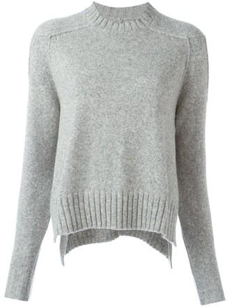 sweater knit hair women wool grey camel