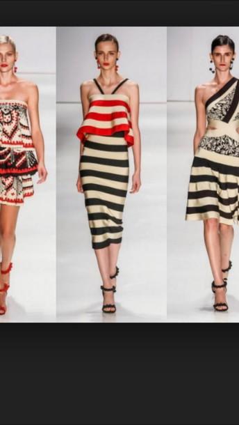 dress nautical midi stripe dress  ss15