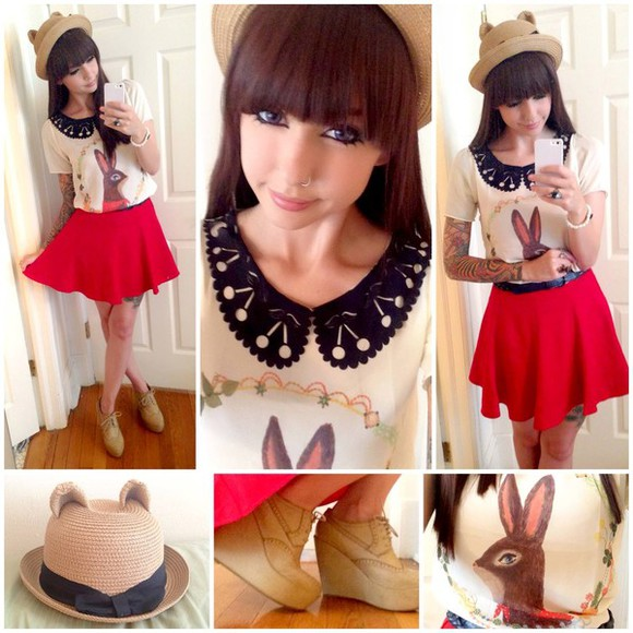 peter pan collar shirt kawaii cute easter