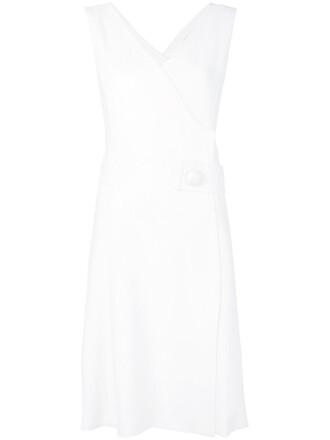 dress pinafore dress women white wool