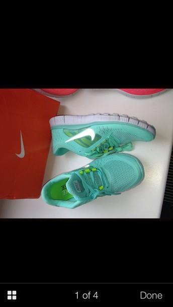 shoes nike free run aqua genuine