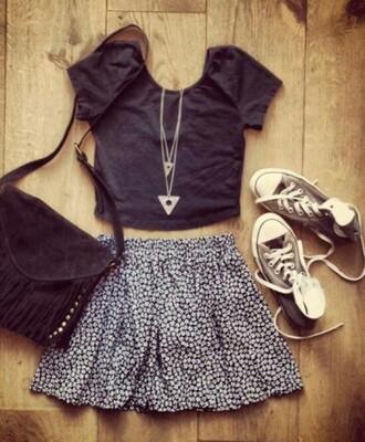 top skirt bag jewels shoes