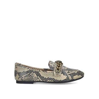 Kurt Geiger London Chelsea Loafer - Snake Print Eagle Embellished Loafers