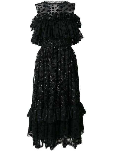 Alcoolique dress metallic women black