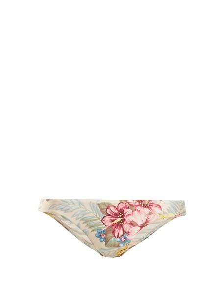 Zimmermann bikini floral print blue swimwear