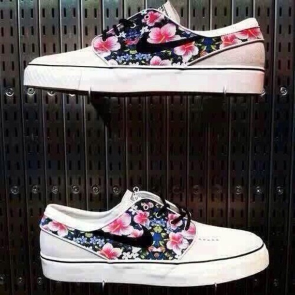 shoes nike shoes nike sb flowers style streetstyle