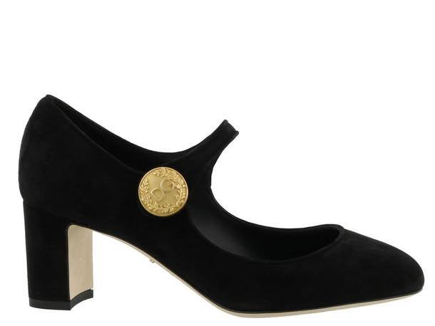 Dolce & Gabbana Mary Jane Suede Pump in black