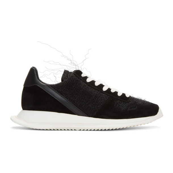 Rick Owens Black Lace-Up Runner Sneakers
