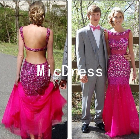 Hot Pink Prom Dresses Long Sexy