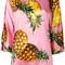Dolce & gabbana pineapple print t-shirt, women's, size: 46, pink/purple, silk/spandex/elastane