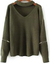 sweater,girl,girly,girly wishlist,knit,knitwear,knitted sweater,khaki,olive green,zip