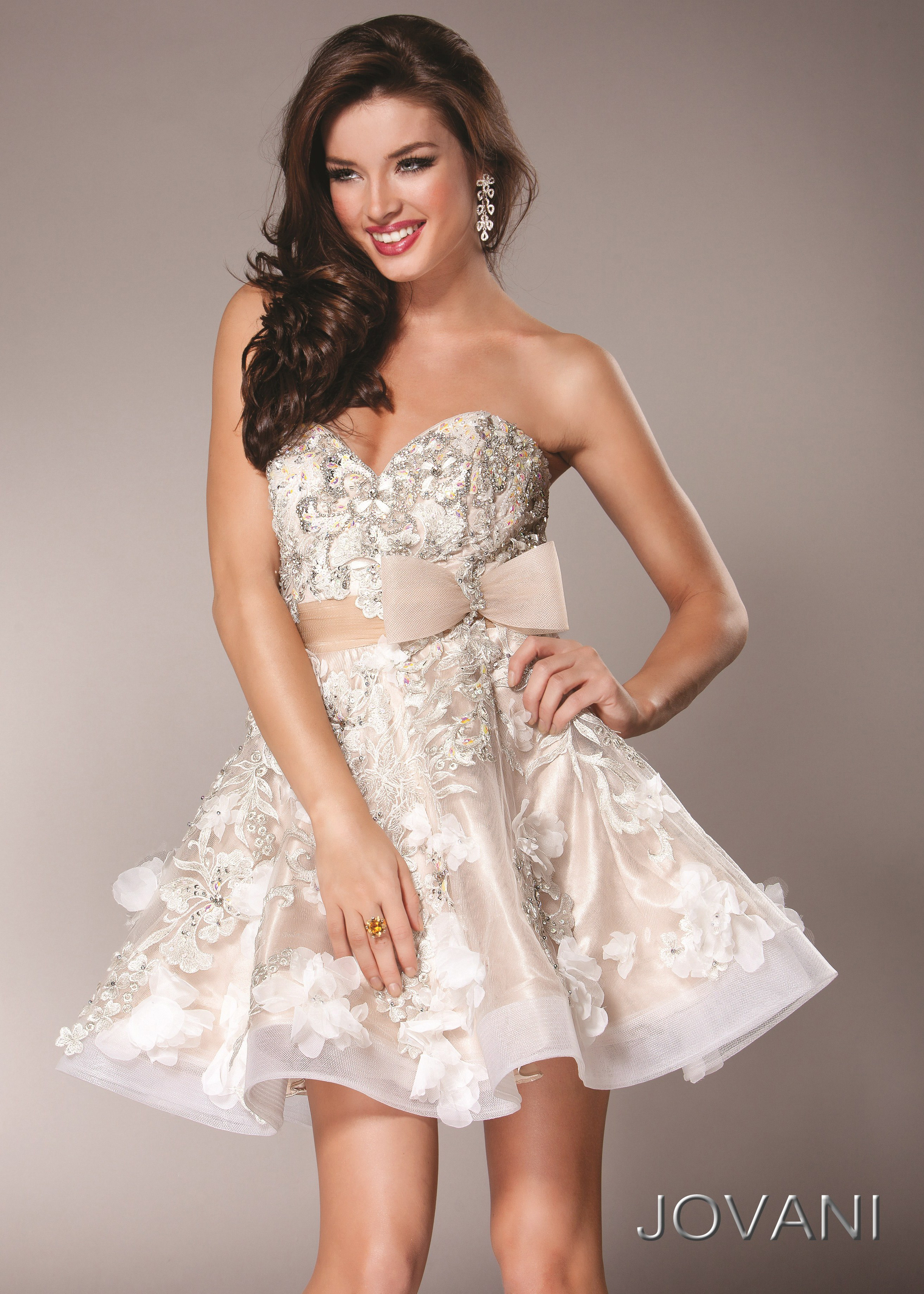 Jovani 2933 - Baby Doll Cocktail Dress - RissyRoos.com