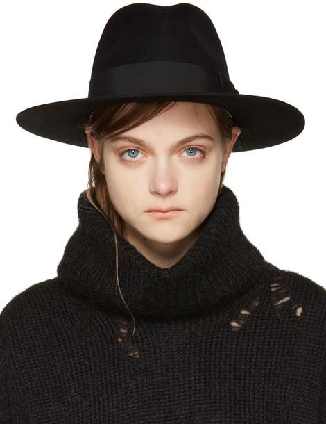 Saint Laurent fedora black hat