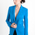 Cut-Out Blazer in Blue by Olcay Gulsen at TAGS
