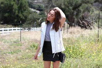 platforms for breakfast blogger vest asymmetrical skirt black skirt leather skirt
