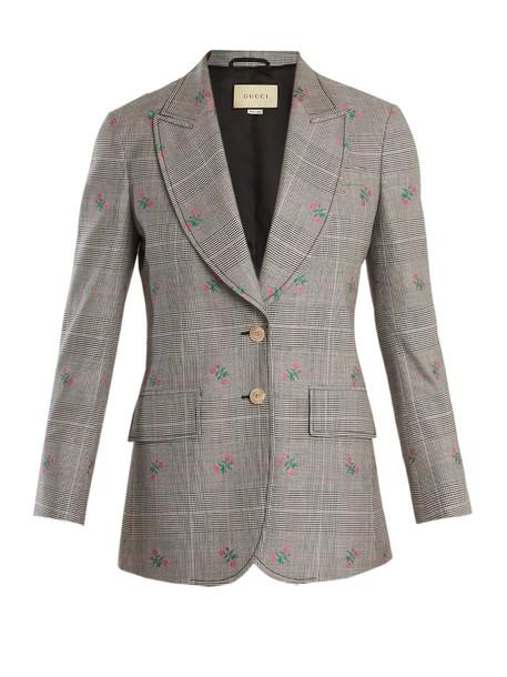 gucci blazer wool grey jacket