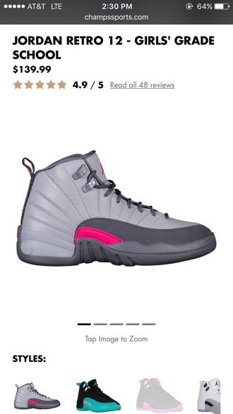 shoes wolf grey jordans pink jordan 12s