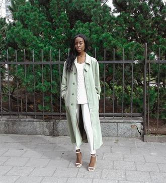 sylvie mus blogger coat leggings jeans
