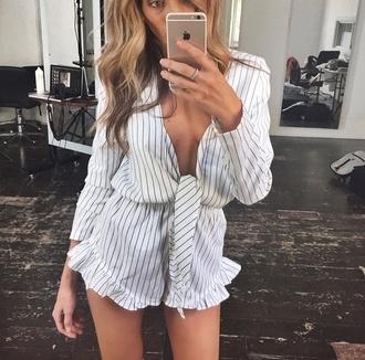 jumpsuit romper striped dress