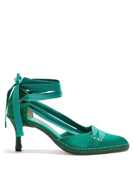 CASTAÑER pumps satin green shoes