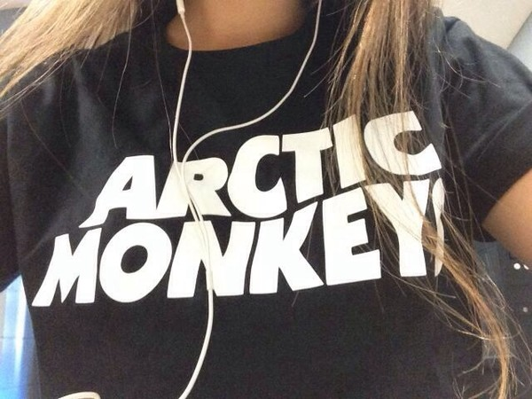 shirt arctic monkeys band t-shirt black fashion band music tumblr t-shirt grunge arctic monkeys blouse