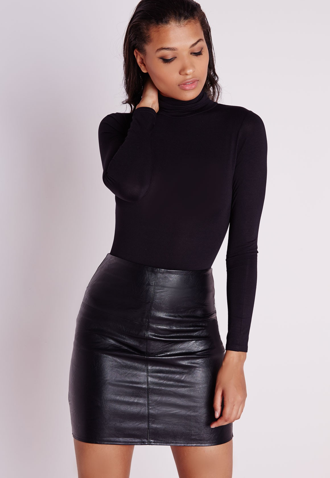 Leather Mini Skirt Black - Skirts - Mini Skirts - Missguided