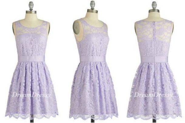 lavender dress bridesmaid lace dress