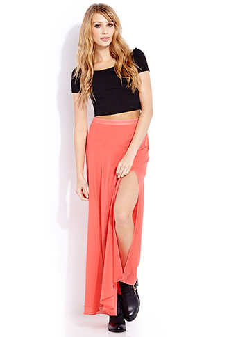 Must-Have M-Slit Maxi Skirt | FOREVER21 - 2000090824