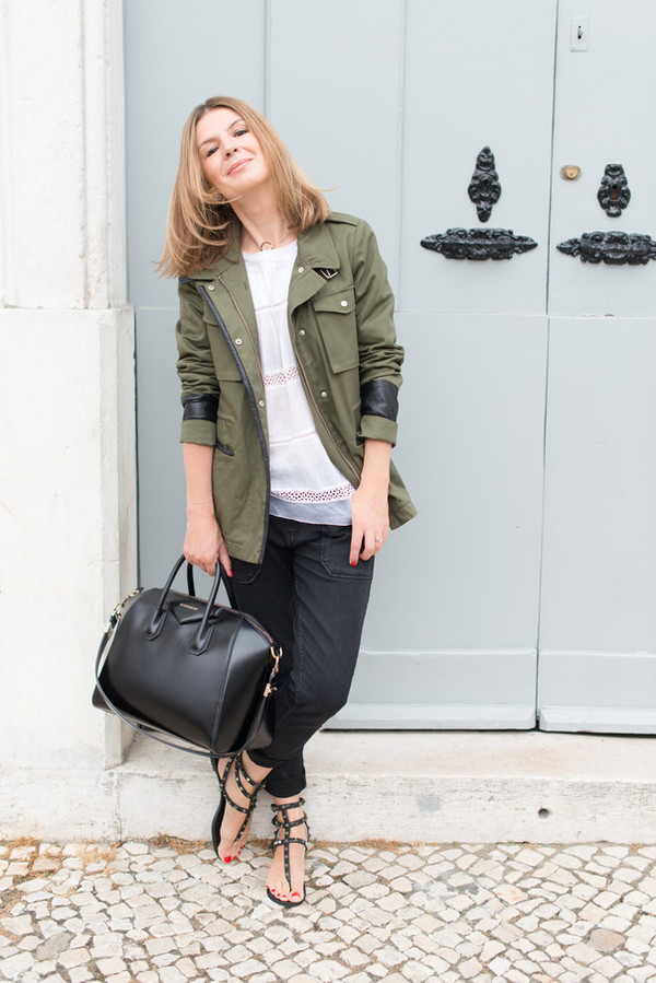the working girl jacket top jeans shoes bag jewels