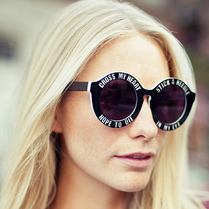 Hot Selling 2013 New Fashion Designer House of Holland Oversized Round Frame Women Vintage Sunglasses 7 Colors Unisex Glasses-in Sunglasses from Apparel & Accessories on Aliexpress.com