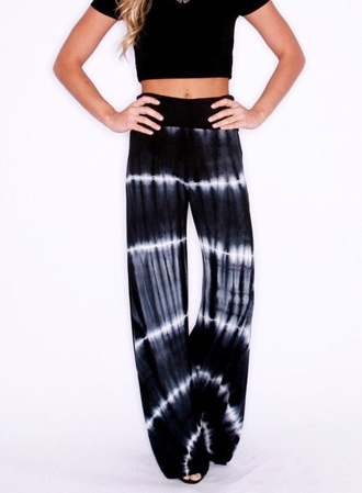 pants bohemian fashion tye dye