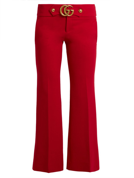 gucci flare red pants