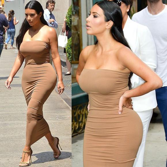 nude dress kim kardashian strapless nude dress kim kardashian dress