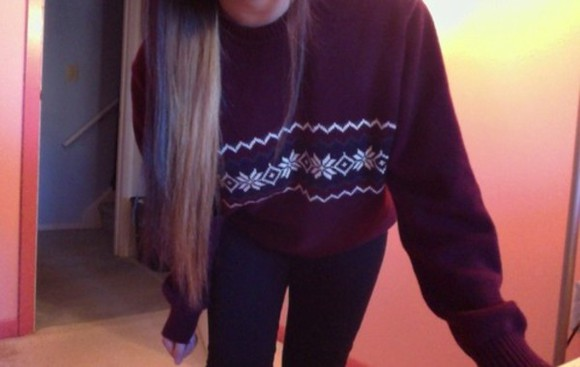 sweater burgundy sweater tumblr