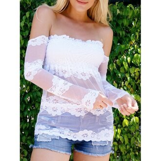 top rose wholesale off the shoulder lace cute boho boho chic fashion style