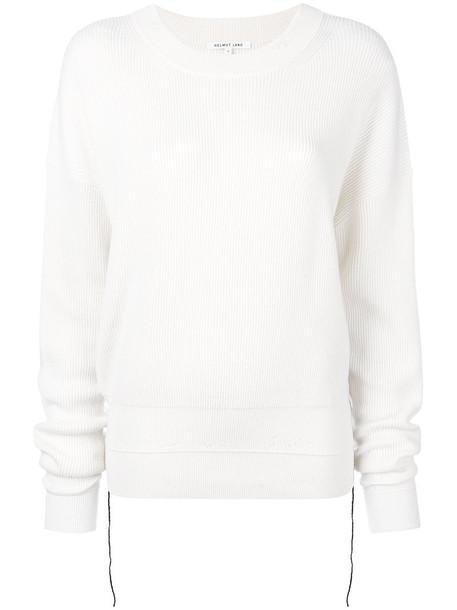 Helmut Lang sweater women nude cotton wool knit