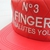 NO 3 FINGER SALUTES YOU RED snapback quilted leather