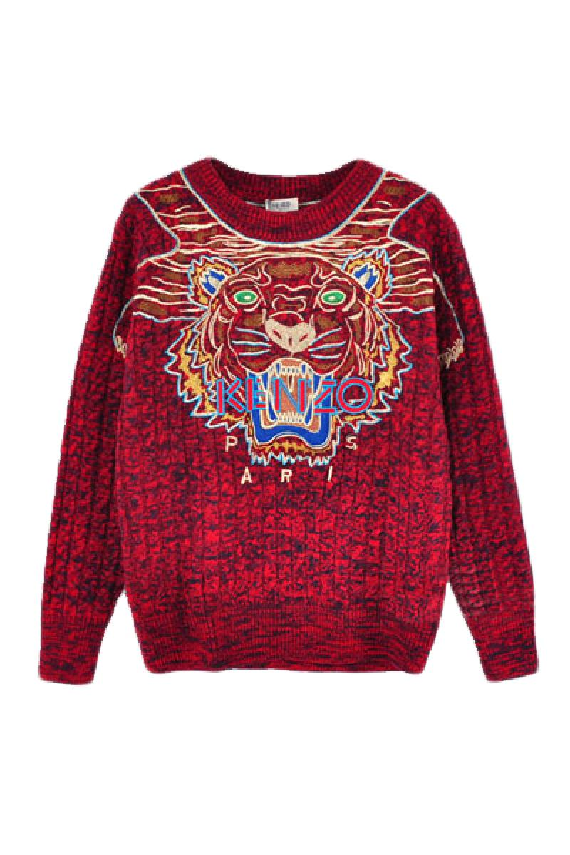Luxurious Embroidery Tiger Head Sweater,Cheap in Wendybox.com