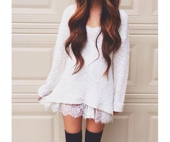 shorts sweater winter sweater white socks