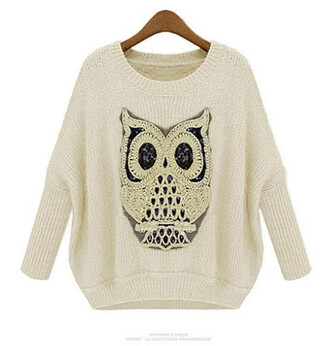 fall outfits outerwear owl sweater