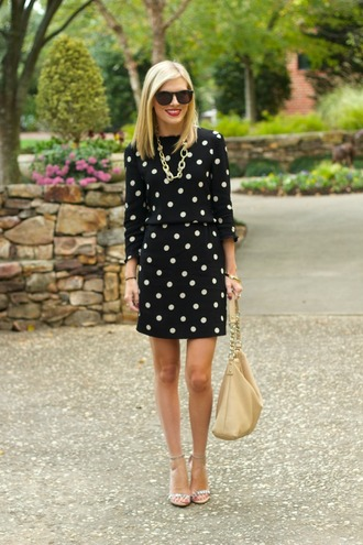 life with emily blogger bag jewels polka dots sunglasses