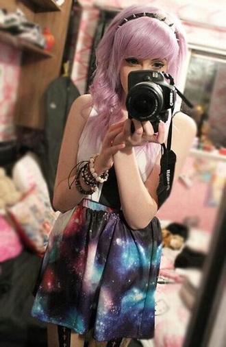 skirt dope galaxy print style