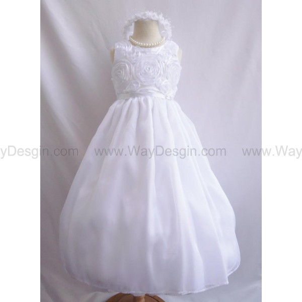 dress white dress white flower girl dress flower girl dress