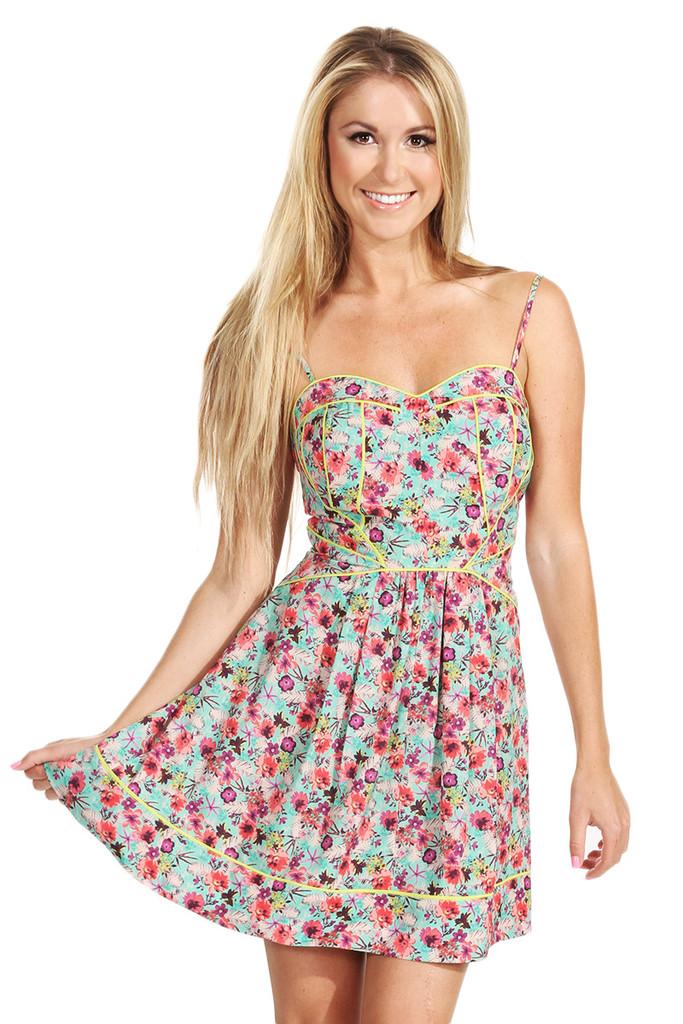 Bright blooms dress