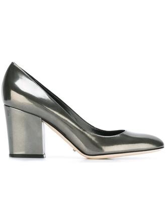 heel chunky heel pumps grey shoes
