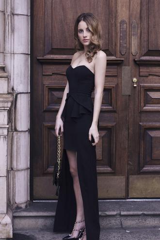 at fashion forte blogger bustier dress prom dress little black dress