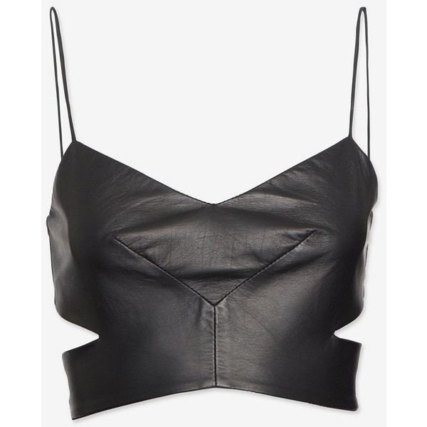 Nicholas Cut Out Leather Bra Top - Polyvore