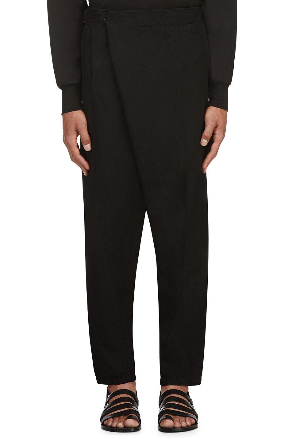 Ma julius black bamboo harem trousers
