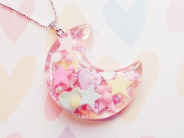 jewels jewelry pink cute kawaii necklace