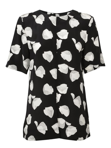 theory blouse floral print top